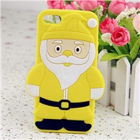 Hot Sell Christmas Santa Silicone Mobile Phone Cover