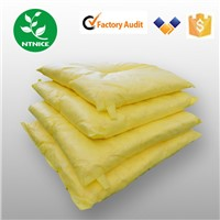 Yellow 100% PP Non-Moven Fabric hazchem Spill Absorbent pillow