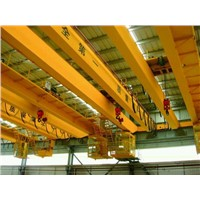 Workshop Used LH Double Girder Bridge Crane 5t