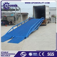 Mobile dock truck hydraulic container loading ramp