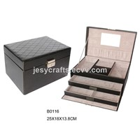 Black Leather Jewelry Box
