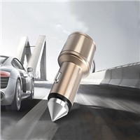 3.1A Safety Hammer Car Charger, Dual USB Ports Car Chargers with Car Window Breaker