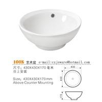 Wash Basin, Top Counter Basin, Ceramic Basin