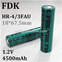 Authorized FDK HR-4/3FAU 1.2V 4500mAh 18670 Ni-MH Rechargeable Battery for Digital Equipment