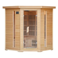 3 Person Corner Style Hemlock Infrared Sauna Room