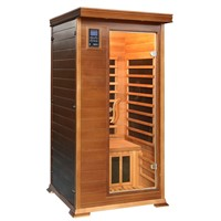 Canadian Red Cedar 1 Person Infrared Carbon Heater Sauna Room