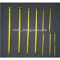 Yellow Steel Concrete NailsYellow Zinc Steel Concrete Nail with Smooth Shank