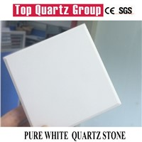 Pure White Quartz Stone Slabs, Artificial Quartz Stone Counter Tops
