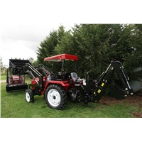 Small Tractor with Front End Loader & Backhoe