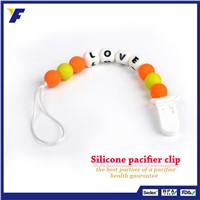 Factory Cheaper Baby Teether Silicone Pacifier Clip Chain