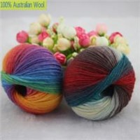 500g/Lot Luxury Quality 100% Wool Yarns Fancy Iceland Thick Hand Knitting for Yarn Colorful Knit Yarn Dye Wool Sweater k