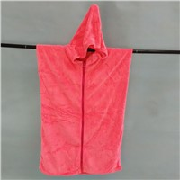 Microfiber Adult Hooded Poncho with Zipper