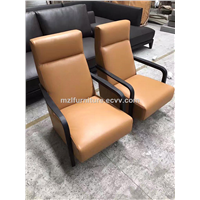 the Modren Easy Chair Living Room Furniture Solid Ash Wood Leisure Chair Living Room Arm Chair OEM Factory