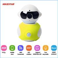 High Demand HK-A8 P2P H. 264 Cam Baby Robot WiFi Camera IP