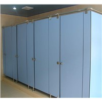10 Years Useful Life Compact Public Toilet Cubicle Partition
