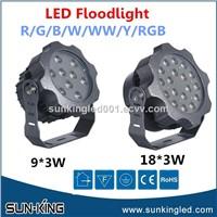 White Green Garden Exterior 110V 220V Aluminum Outdoor LED Ip65 Floodlight 27W 9x3W