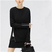 2017 Hot OEM Customiszed Womens Long Zipper Fitted Hoodies