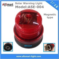 Red Solar Traffic Warning Lights with Magnet Road Construction Magnetic Safety Warning Lights