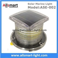 Red Amber Solar Marine Aquaculture Lights Buoys Navigation Hazard Warning Lights Flash Steady Type Solar Dock Light