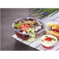 Transparent Biaxial Oriented Polystyrene(OPS) Salad, Vegetables, Fruit Bowl/Tray