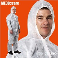 Nonwoven Disposable Protective White Coverall