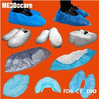 Dailyuse Homeuse Floor Protective White Blue Bottom Non Slip PP Anti-Skid Shoe Cover