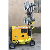 Mobile Light Tower Diesel Generator 5kw Mobile Light Tower Diesel Generator with Tailer