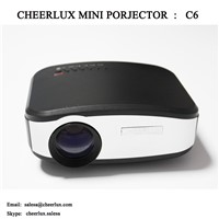 Cheerlux C6 Mini Projector 1200 Lumens LED LCD for Home Theater