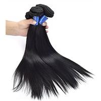 100% Virgin Brazilian Natural Straight Human Hair Weave Extension Unprocessed
