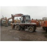 Used Japan Wheel Excavator, Japanese Hitachi EX100 EX100-1 EX160-1 Wheel Excavator Digger