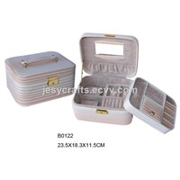 Patent Strap PVC Jewelry Box(B0122)