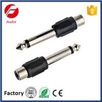 Audio Adapter Male to Female FenFei 6.35mm Mono Plug to RCA Jack