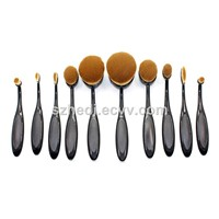 New Toothbrush High Quality Oval Makeup Brush Set