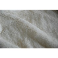 Polyester Ivory Minky Fabric, Fake Fur 385 G/M2