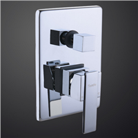 Wall Mounted Bathroom 2 Way Concealed Bath Shower Valve Mixer with Diverter