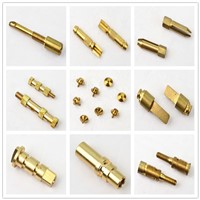 Gold Plated Spring Dowel Pin with Slotted