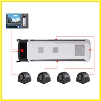 Bus/Trailer/Truck 360 Car Monitor Quad around View Camera System