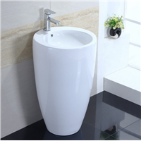 Floor Standing Wash Basin Design for Hotel