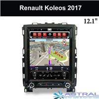 2 DIN Car PC Supplier 12 Inch Navigation Head Unit Renault Koleos 2017