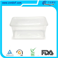 500ml750ml1000ml Round Plastic Food Containers Food Storage Box Food Containe