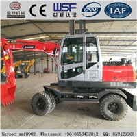 2017 Small Wheel Excavators BD80 with ISO9001 Certificate