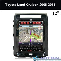 Tesla Screen 12.1 Inch Toyota Navigation GPS Factory 2 DIN Car Audio Video Player Land Cruiser 2008-2015