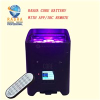 New Arrival Core Hex 4*18W APP Freedoom Battery Operated Chargable 6in1 RGABW UV LED Par Light Stage Par Projector