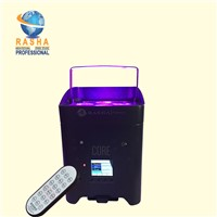 Rasha Core Hex APP 4*18W 6in1 RGABW UV Freedoom Battery Powered Wireless LED Par Light
