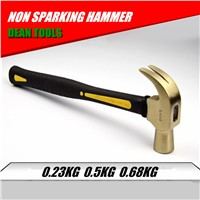 Non Sparking Hammer, Claw Type Nail Hammer 0.23-0.68kg