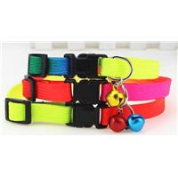PET Collar or Leash 1.0cm Nylon Collar Dog Cat Collars Collar Small Dogs with Bell