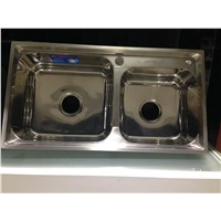 Superior Quality Ss Sink 304 Double Bowl Stainless Steel Sink for Kitchen WY-8043