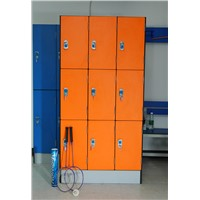 Fire Resistant Glossy Surface Closets Locker Cabinets