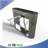 CE Approved Stainles Steel Waist High Tripod Turnstile, Supermarket Entrance Turnstile