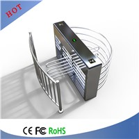 Pedestrian Control Security Half Height Swing Gate Turnstile, Arm Revolving Turnstile